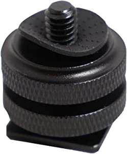 Kaavie KA-J2 Dual Nuts Cold Shoe Mount 1 4  Screw Adapter...
