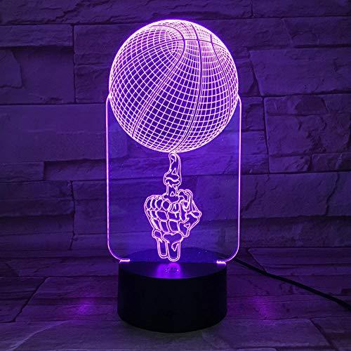 Luz nocturna para niños Luminaria de Mesa 3D Lámpara de mesa para salón Touch Switch 7 Cambio de Color Lámpara de Escritorio Navidad Luces 3D para Niños Regalo para Niños