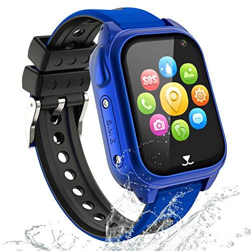 Smartwatch Bambini GPS LBS Tracker - GPS Smartwatch Orologio Bambino, Smartwatch Bambini per Ragazzi Ragazze Studente, IP68 Orologio Intelligente Bambini con SOS Chiamata Voice Chat Camera Pedometro