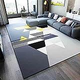 gamer decoracion alfombra juegos bebe Alfombra del dormitorio de la sala de estar de terciopelo gris bajo, resistente al desgaste y que no se decolora habitacion bebe 100X160CM 3ft 3.4'X5ft 3'
