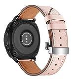 22 mm for Huawei Reloj GT2e GT2 46mm de Piel de la Mariposa Hebilla de Correa de Hebilla de la Plata Ou Ka Rui KE Ji (Color : Pink)