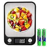 Báscula de Cocina Digital,Báscula Digital Para Cocina10KG/1G,con Pantalla LCD para Cocina de Acero Inoxidable,Balanza de Alimentos Multifuncional(2*AAA Baterías Incluidas)