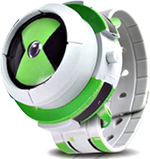 Lispeed Alien Force Omnitrix Illumintator Projector Watch Toy Regalo per Bambini, Projector Watch Kids Orologio da Polso D...