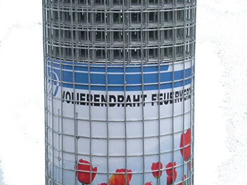 5 m Volierendraht Maschendraht Wühlmausschutz Hasendraht Drahtzaun Gitterzaun 6,4 x 1000mm, feuerverzinkt oder Edelstahl wählbar (feuerverzinkt)
