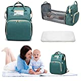 3 in 1 Baby Travel Cot,Portable Travel Foldable Diaper Changing Station Mummy Bag
