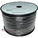 The Wires Zone TWZ SWB16-500 True 16 Gauge 500' Feet Black PVC Speaker Wire for Home/Car Audio