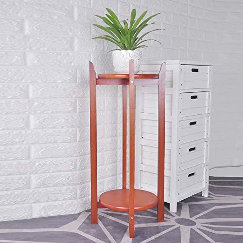 ZZHF huajia Support de fleur, solide bois double couche style chinois salon balcon intérieur fleur stand (Couleur : Light walnut, taille : 80 * 36CM)