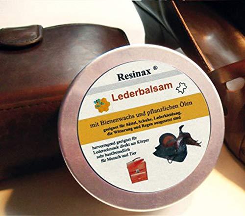 Resinax Lederbalsam, Pflege und Impränierung für alle Glattledersachen, Lederfett, Lederpflege - hochwertig und anders