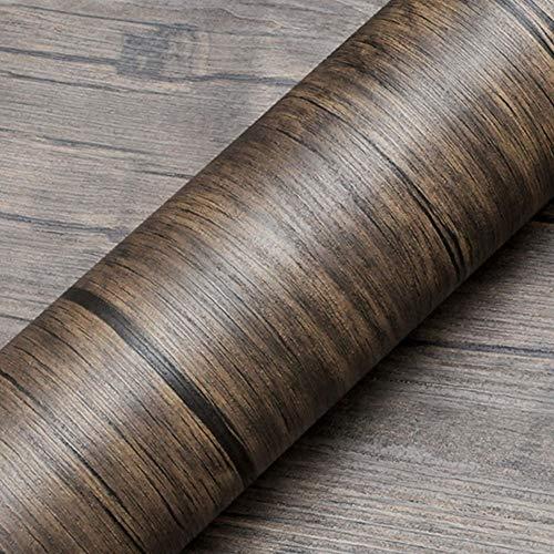ZTKBG Holzmaserung Papier Selbstklebende Platte Tür Arbeitsplatte Kabinett Aufkleber Möbel Aufkleber Kleiderschrank Aufkleber PVC Tapete wasserdicht leicht zu reinigen, leicht zu zerlegen