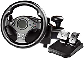 270 Degree Motor Vibration Driving Gaming Racing Wheel,With Responsive Gear And Pedals for PC / PS3 / PS4 / Xbox One/Xbox ...
