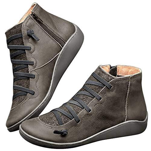 Botas para Mujer Invierno Cuero y Sintético PAOLIAN Zapatos de Mujer Vintage...