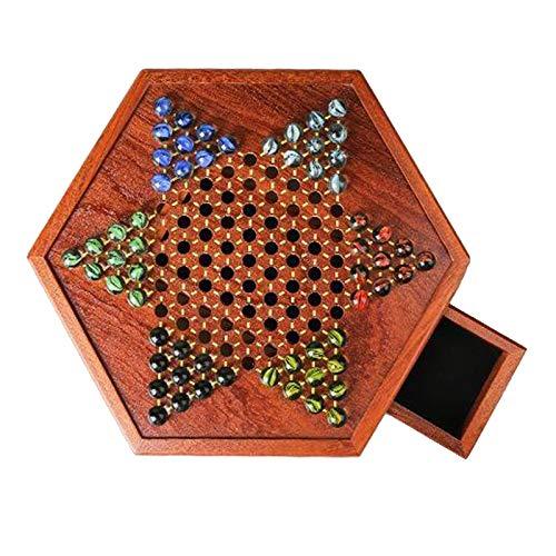 Hellery Kinesiska Checkers 6 färger familjespel med lådinlägg för barn från 6 år