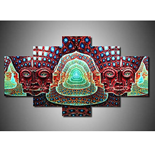 Handaxian Canvas Paintings Wall Art Home Decor for Living Room 5 Pieces Tool Alex Grey Graphical Posters Modular HD Prints Pictures Frame 40 * 60CM*2 40 * 80CM*2 40 * 100 * 1CM