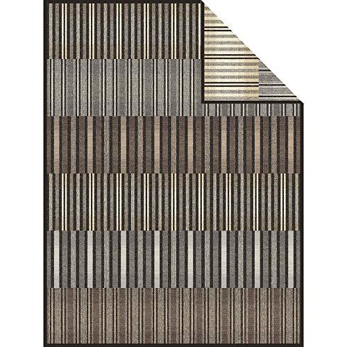 Bugatti Wohndecke Baumwollmischung grau/braun Größe 150x200 cm