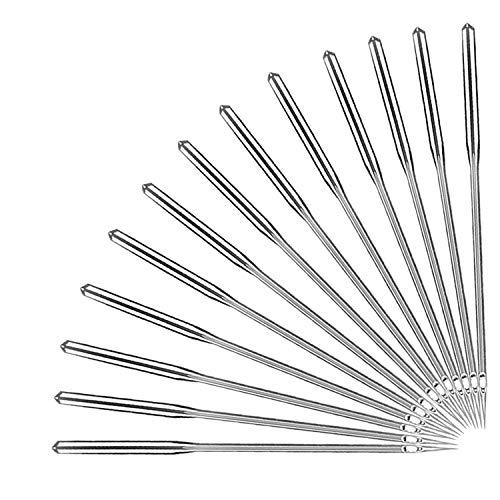50 agujas para máquina de coser, punta de bola universal industrial, tamaños 11/75, 12/80, 14/90, 16/100, 18/110