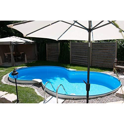 Planet Pool Achtform Aufstellbeckenset Cannes 625x360x150cm (SW:0,8 IH:0,6)