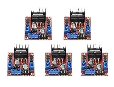 ARCELI 5 PCS L298N Motor Drive Controller Board Module Dual H Bridge DC Stepper Module