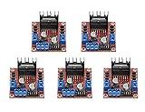 ARCELI 5 PCS L298N Módulo de la Placa del Controlador del variador de Motor Dual H Bridge DC Stepper Module para Arduino