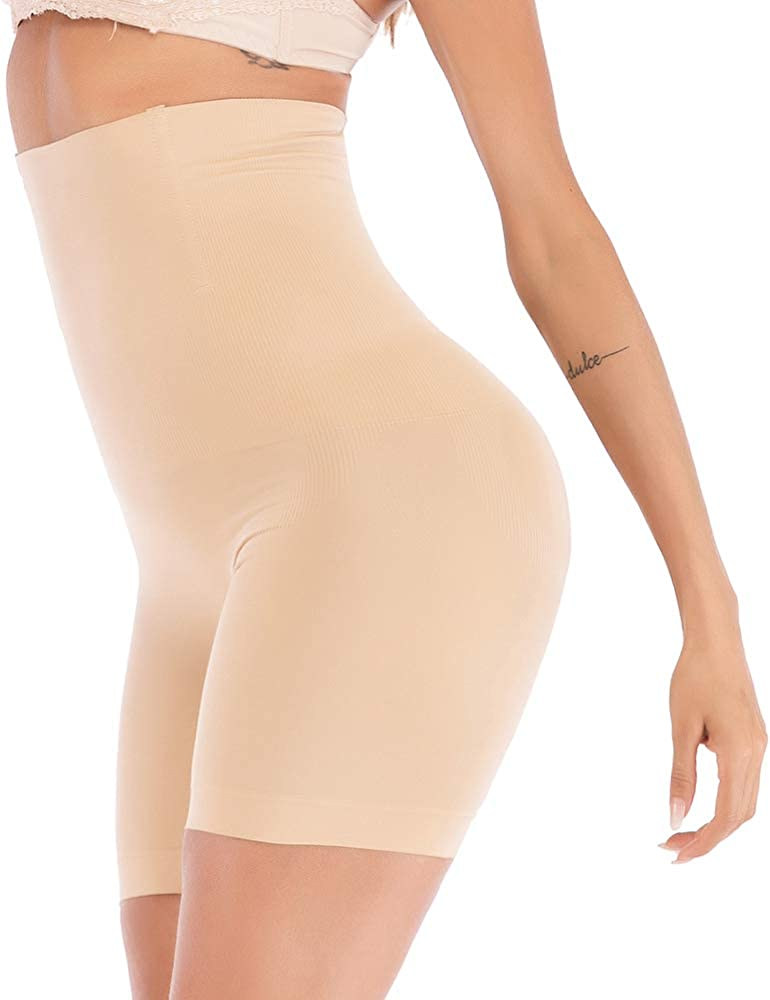 JANSION High Waisted Shapewear Shorts Butt Lifter Tummy Control Body Shaper Panties Mid Thigh Underwear