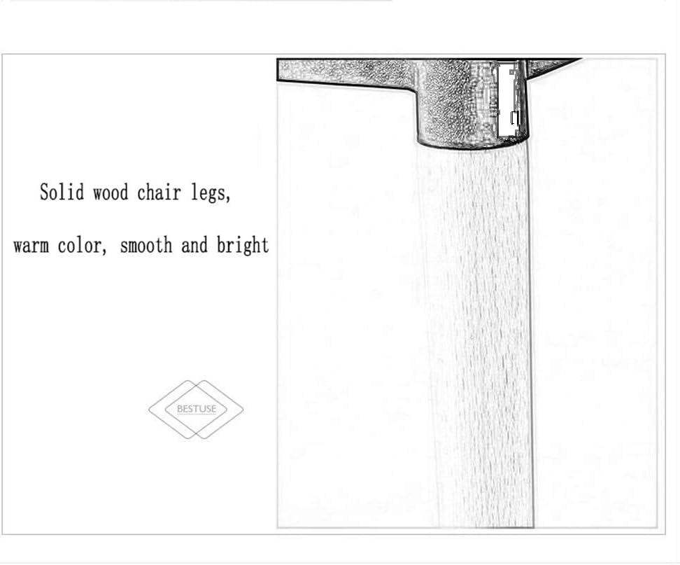 Min Chaise - Chaise Chinoise Nordique, Chaise Longue, Chaise de Maison Minimaliste Moderne, Salon, Chaise en hêtre Chaise de Salle à Manger (Color : 8) 4