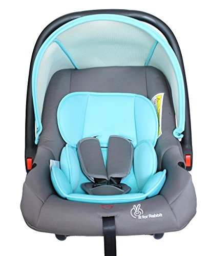 R for Rabbit Picaboo 4 in 1 Multi Purpose Baby Carry Cot,Car Seat, Rocker,Feeding Chair for Infant Babies of 0 to 15 Months & Weight Capacity Upto 13 Kgs(Grey)
