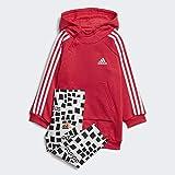 adidas I G HD Dre Set Chándal, Unisex bebé, rosact/Blanco, 62