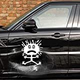 Autodomy Pegatinas Divertidas Decorativas Buns para Bollos Golpes Pack 2 Unidades para Coche o Moto (Blanco, S -10 x 12 Cm)