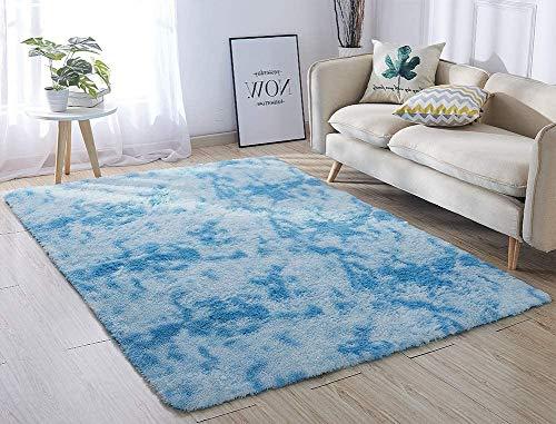 N\C Tappeti di Zona Moderna Ultra Morbida Soffici tappeti Soggiorno Adatto per Bambini Camera da Letto Home Decor Nursery Tappeti 60 * 120 cm (Sfumatura Azzurra)
