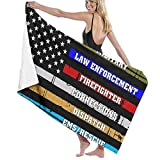 521 Thin Blue Line, Police, Fire, Military, Dispatch Rescue Exterior Toallas De Bañobe Impreso Toallas De Baño Microfibra...