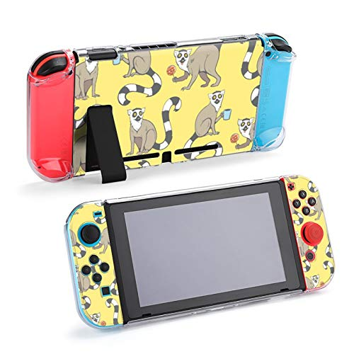 Niedliche Cartoon Ring-Tailed Lemuren Madagaskar Cats Case Dockable Schutzhülle für Nintendo Switch und Joy-Con Controller