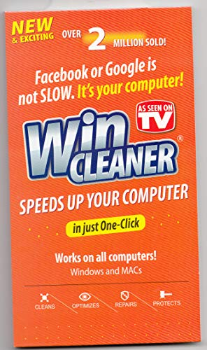 WIN CLEANER AS SEEN ON TV SPEEDS UP YOUR COMPUTER