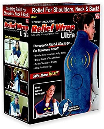 New Thermapulse Relief Wrap Ultra - Massage Heating Pad with Fast-Heating Technology, Heat