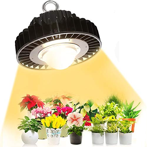 LED Grow Light, CREE CXB3590 COB Grow Light Full Spectrum, CFGROW 100W Sunlike White Light Plant Growing Lamps for Indoor Plants, Dimmable MEANWELL Driver, Designed for Special Plants