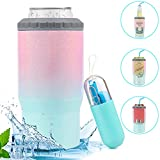 4-in-1 Skinny Can Cooler for Slim...