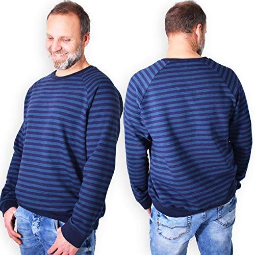 leni pepunkt Schnittmuster Pullover Kapuzenpullover Herren in den Größen XS-XXXL zum selber Nähen mit Kurzanleitung und Webetiketten
