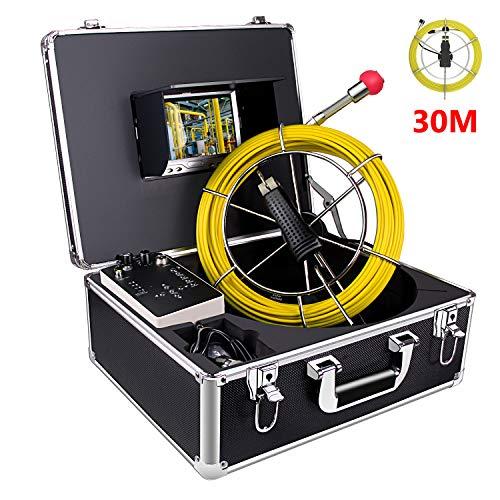 Kanal Kamera 30m Profi Pipeline-Inspektionskamera Rohrkamera mit DVR-Rekorder Industrie Rohr Endoskop Wasserdichtes IP68 Kanalkamera mit 7