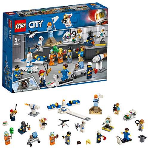 LEGO City Space - Investigación y Desarrollo en el Espacio, Juguete de Construcción con Minifiguras y Naves Espaciales Inspirado por la NASA para Niños y Niñas de 5 a 12 Años (60230)