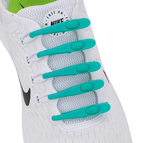 Supo Elastische siliconen schoenveters, zonder te strikken, silicone schoenveters, strikloze schoenveters voor alle schoenen, jongeren en volwassenen