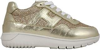 Moda De Lujo   Hogan Bebé-niñas HXC3710AP30FTI375BB Oro Cuero Zapatillas   Ss21