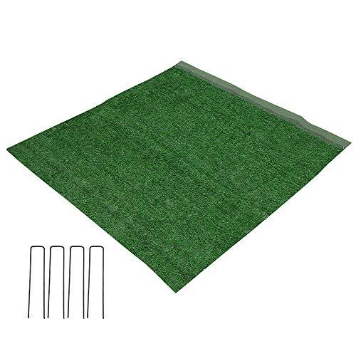 Premium Kunstrasen Kunststoffrasen Rasenteppich Wasserdurchlässiger Outdoor Garten Rasen für Balkon, Terrasse und Garten (100 * 200cm)