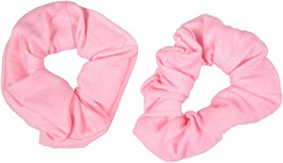 Set of 2 Solid Scrunchies - Light Pink