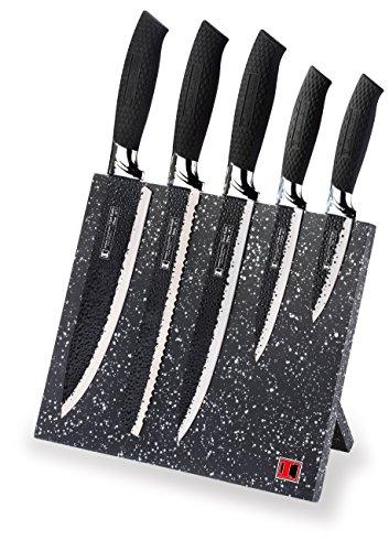 Imperial Collection profitional kitchenware Ensemble de 5 couteaux, noir