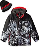 ZeroXposur Boys' Big Atom Snowboard Jacket, Black, XL-18/20