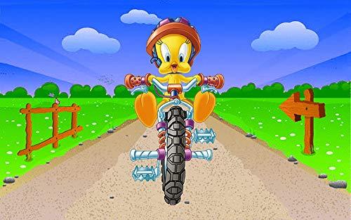 Poster con scritta 'Tweety' in bicicletta, motivo: Uccelli, Looney Tunes, 30,5 x 45,8 cm, multicolore