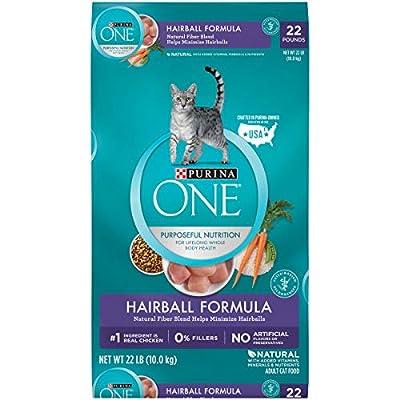 Purina ONE Hairball, Natural Dry Cat Food, Hairball Formula - 22 lb. Bag