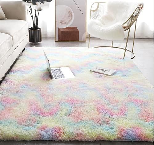 Tappeto peluche, tappeto soffice, tappeto antiscivolo per la casa, zerbino quadrato, adatto per la decorazione di...