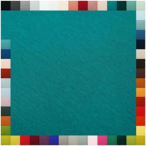 VmG-Store Bündchenstoff als Meterware Schlauchware 70cm breit 95% Baumwolle, 5% Elasthan über 50 Farben Auswahl Jersey (012 | Petrol, Länge: 2,0m)