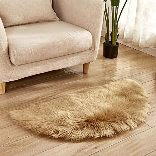 Mazu Homee Alfombra de piel de oveja artificial muy suave, suave, para salón, dormitorio, casa de niños, alfombra de seda, alfombra decorativa de piel artificial, 60 x 120 cm (varios colores)