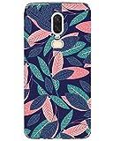 Coque OnePlus 6, Bumper Housse Etui [Liquid Crystal] Ultra Mince Protection Premium TPU Silicone Premium Transparent/Exact Fit/Souple pour OnePlus 6 (Feuilles Colorées)