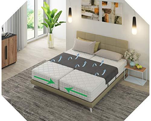 Matraswig Zwart | Bedbinders | Universeel | Verhelpt het schuiven van matrassen | Geen naad of geul in het midden van uw bed | Matraswig | Liefdesbrug | Lovebridge | Pont d'amour | Twin Bed Connector | T-stuk | Tussenstuk
